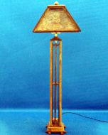 Arts & Crafts Wood Floor Lamp