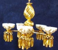 Gold Cup 5-Arm Chandelier